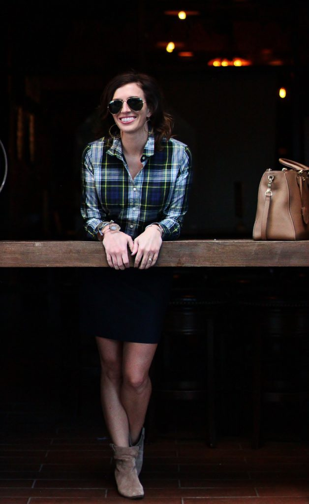 Plaid, Wool, and Slouchy Suede