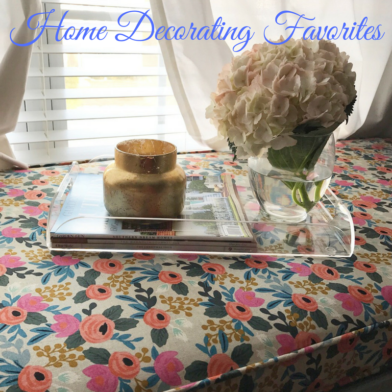 Current Home Decorating Favorites