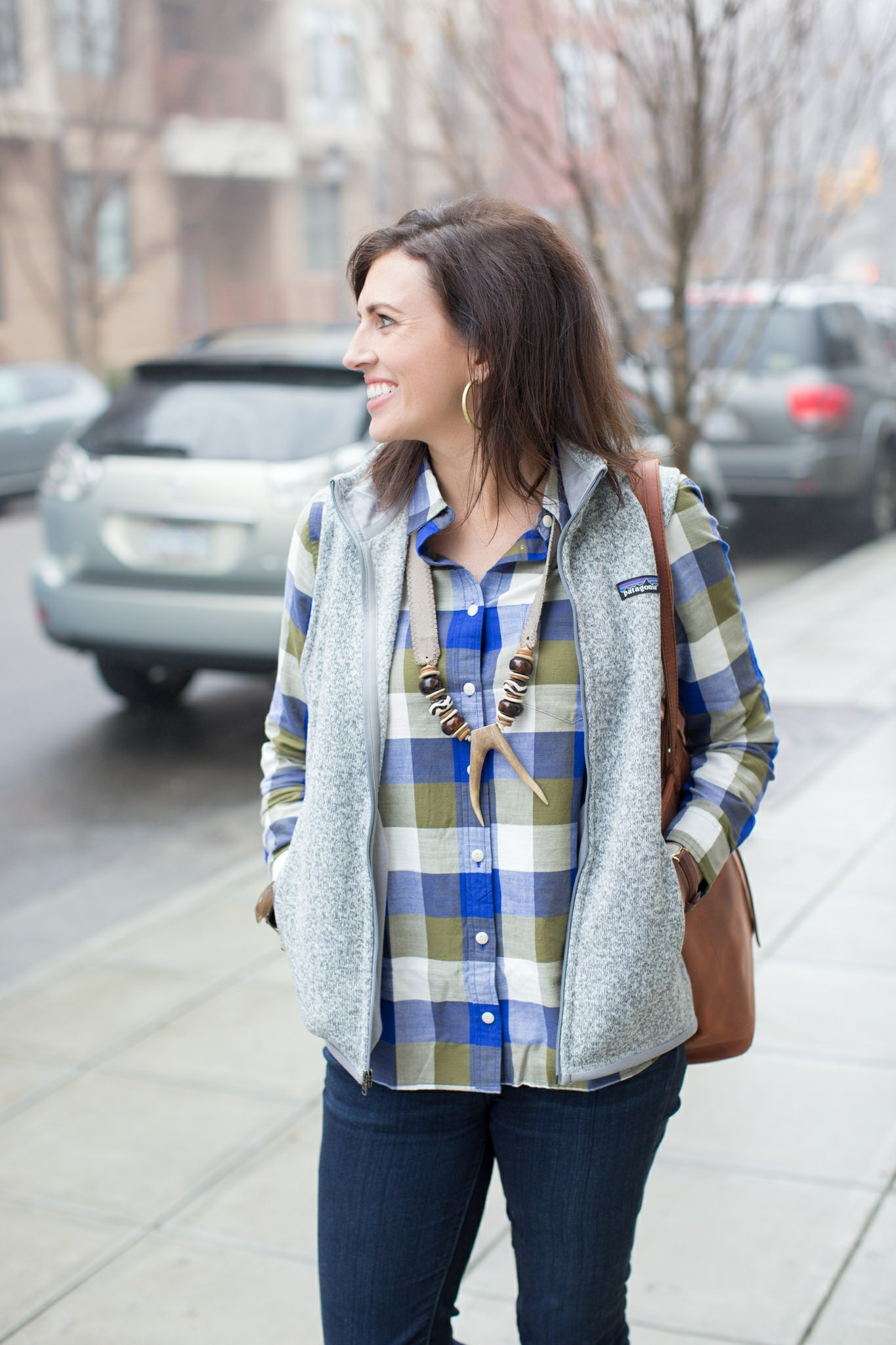 Plaid Flannel + Vest - I'm Fixin' To - @mbg0112