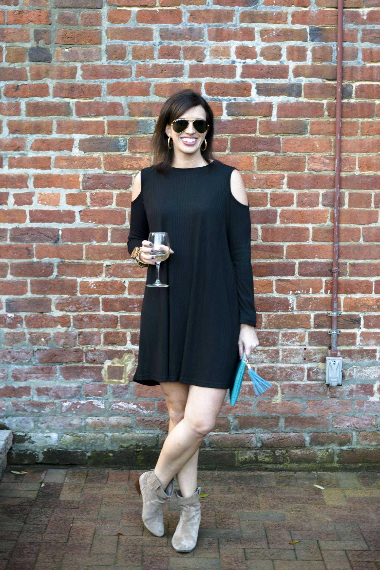 Cold Shoulder Dress for Max's on Broad - I'm Fixin' To - @mbg0112