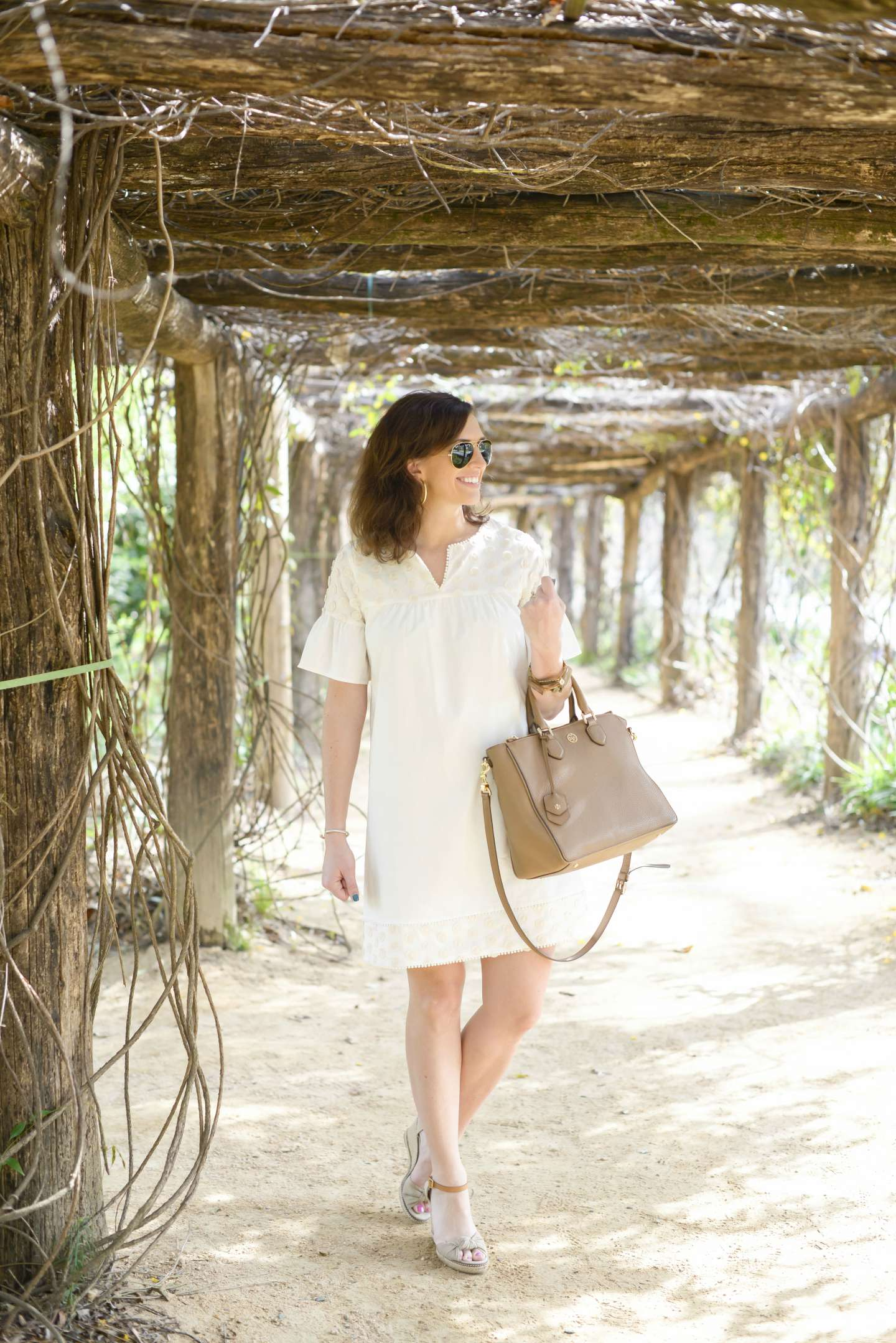My Favorite Little White Dress for Spring - I'm Fixin' To - @mbg0112