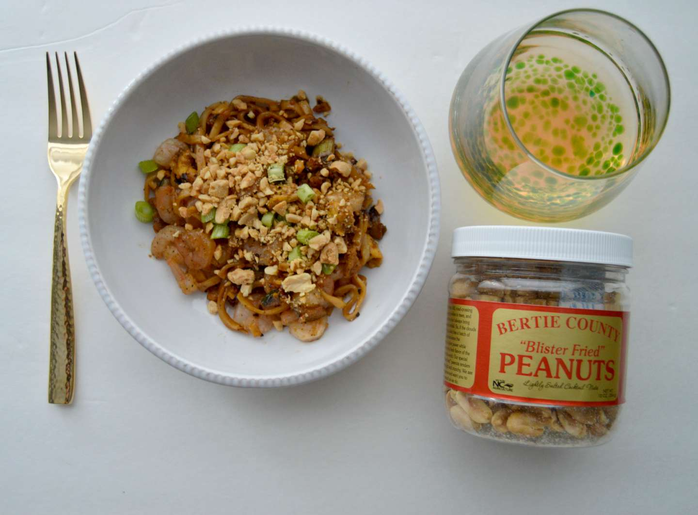 Easy Shrimp Noodle Bowls with Bertie County Peanuts - I'm Fixin' To - @mbg0112