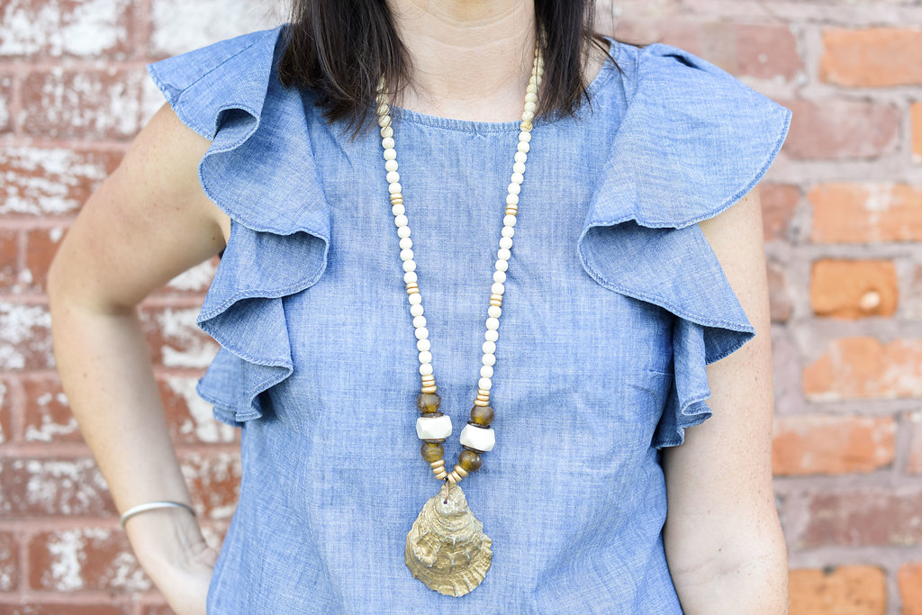 Chambray Ruffles & White Denim for the 4th of July - @mbg0112 - I'm Fixin' To