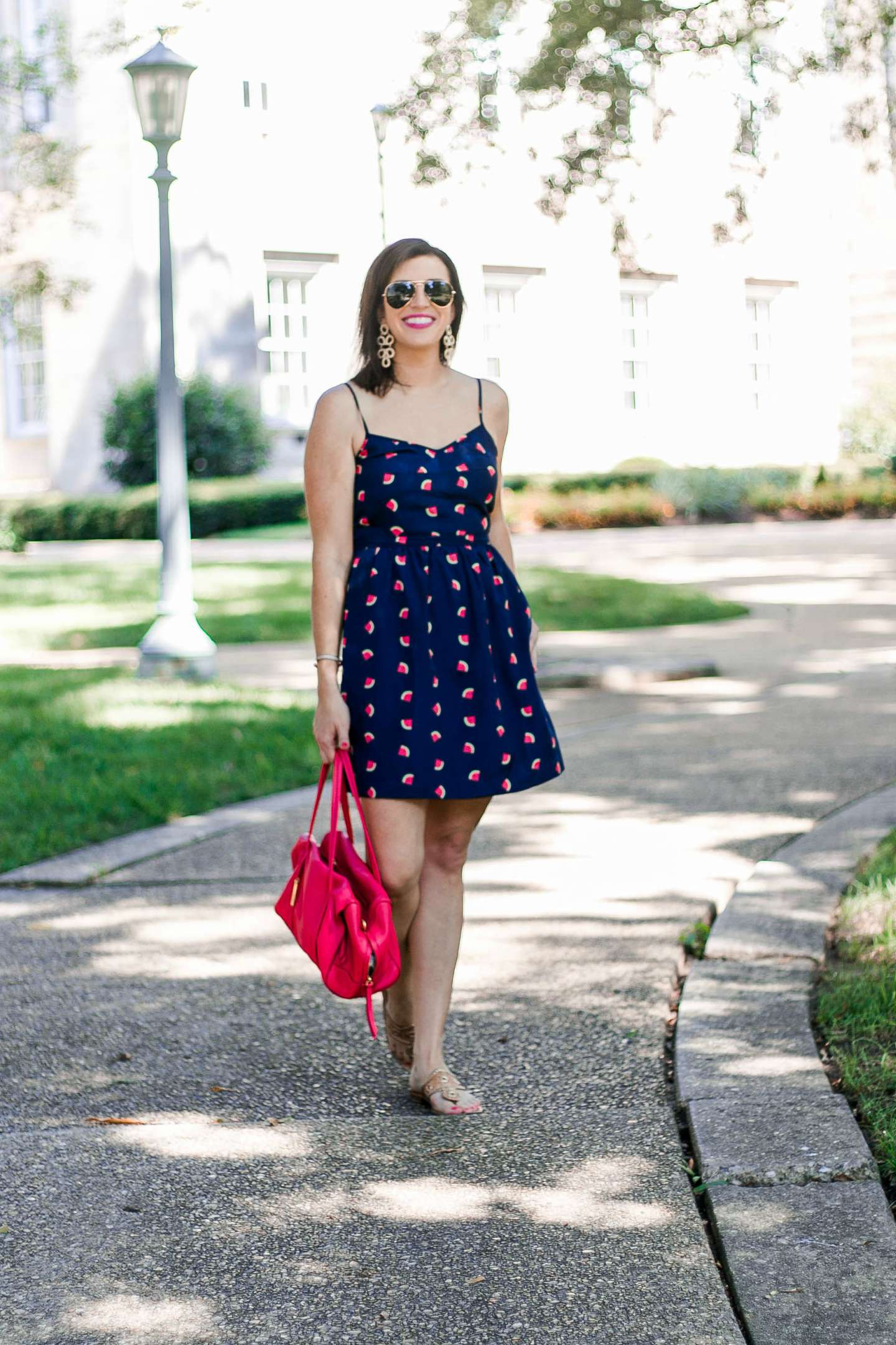 The Best Watermelon Dress for National Watermelon Day by NC fashion blogger I'm Fixin' To