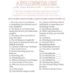 Joy Filled Home Challenge: Week 1