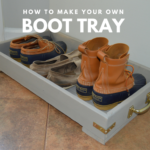 Do-It-Yourself Wood Boot Tray