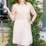 Ladylike Pink Dress for Brunch at Babylon
