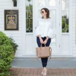 White Lace Top for Date Night at Fearrington Village