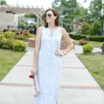 Chambray Maxi Dress + a Tassel Clutch