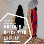 How to Install a Mudroom Bench with Shiplap