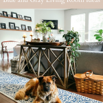 Room Reveal: Blue and Gray Living Room Ideas