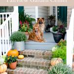 Fall Front Porch Decor with Fairview Garden Center